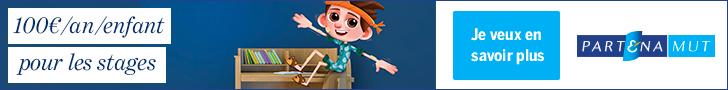 Logo de Partenamut - 100€ par an et par enfant pour les stages