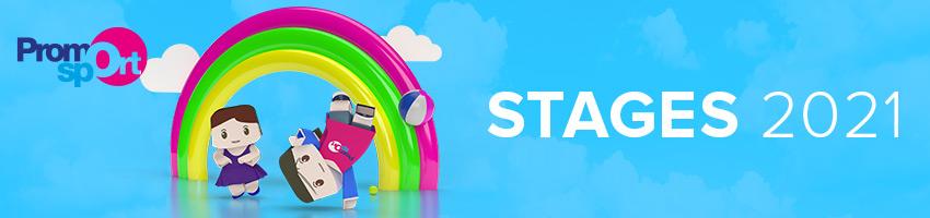 Stages sportifs et créatifs organisés par Promosport pour les enfants de 3 à 16 ans durant les vacances scolaires